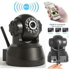 720P HD Wireless Outdoor IP Camera 1.0 Megapixel ONVIF WiFi CCTV Web Black US LN