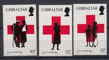 Gibilterra/Gibraltar 1989 125 anniversario Croce Rossa 581-83  MNH