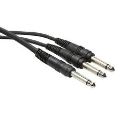 HOSA CYP-105 / Y Cable, 1/4 in TS to Dual 1/4 in TS, 5 ft