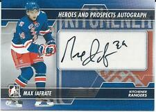 2013-14 ITG Heroes & prospects MAX IAFRATE #A-MI Autograph