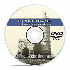 New York NY, People, Cities and Towns History and Genealogy 126 Books DVD CD B25