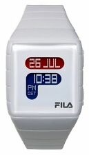 Fila Unisex LCD Watch with White PU Strap FL38015001