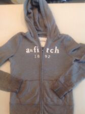 ABERCROMBIE AND FITCH KIDS SIZE XL GRAY HOODIE ZIP UP JACKET