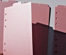 9 Shimmery PINK Filofax Personal Kate Spade size dividers subject top tab