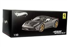 FERRARI 458 SPECIALE MATT BLACK DIE CAST 1/18 BY HOT WHEELS ELITE BLY33