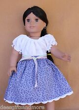 Doll Clothes fiitting 18 in & American Dolls Purple Camisa Skirt Mexican New!