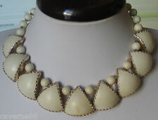 BIJOU ANCIEN COLLIER plastron celluloïd lucite NECKLACE WESTERN GERMANY b118