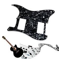 3 Ply Guitar Noir perle pickguard Pour Fender Stratocaster Strat HH 2 Humbucker