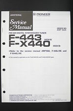 PIONEER F-443 F-X440 ADDITIONAL Synthesizer Tuner Service-Manual/Schaltplan o80