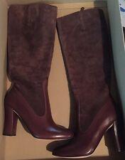 New Cole Haan Julian Tall Brown Chestnut Boot Womens Size 7B $398