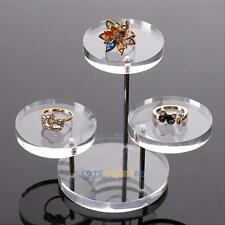 Acrylic Jewelry Display Necklace Bracelet Cosmetic Table Holder Stand Rack Case