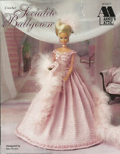 Socialite Ballgown Crochet Barbie Fashion Doll Dress Clothing Pattern Annies NEW