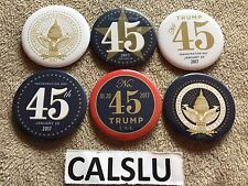 DONALD TRUMP ☆OFFICIAL☆ LOT OF (6) ☆PRESIDENTIAL INAUGURATION☆ PIN BACK BUTTONS