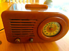 FADA 1000 STREAMLINER BUTTERSCOCH BULLET CATALIN BAKELITE 1940s TUBE RADIO-WORKS