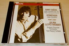 SAINT-SAENS-CELLO CONCERTO IN A-CD 1991-JULIAN LLOYD WEBBER-FULL SILVER RING