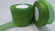 """NEW 25yards 1 """"25mm glitter ribbons Bling for DIY Wreaths decorated and Bows T5A"""