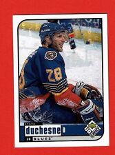 1998-99 UD Choice RESERVE parallel # 182 Steve Duchesne ST. LOUIS BLUES