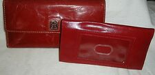 Rustic Red Leather Giani Bernini Clutch Wallet with Removable Checkbook Cover
