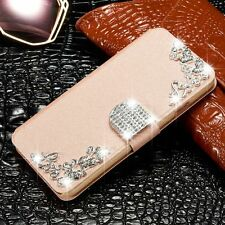 Bling Diamond Magnetic Flip Leather Case Stand Wallet Cover For iPhone 4/4s