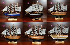 """NEW 5.2"""" Vintage Wooden Ship Model Pirate Sailing Boats Toy PERFECT Gifts"""