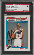 Charles Barkley 1991-92 Hoops USA signed auto autographed card SGC Certified