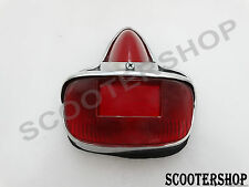 NEW VESPA CHROME REAR BRAKE TAIL LIGHT ASSY VBB GS150 GS160 SPRINT SUPER RALLY