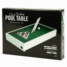 Table Top in Legno Desktop Mini pool biliardo, Snooker TABLE GAME Divertente Set Bambini Portatile