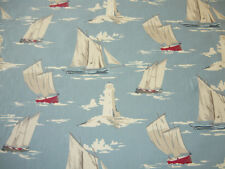 CLARKE AND CLARKE SKIPPER MARINE SAILING BOAT OILCLOTH PVC FABRIC TABLECLOTH