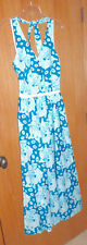 Vintage LILLY PULITZER Turquoise/White Butterfly Halter Sundress 8
