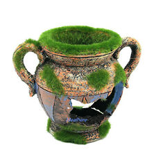 Aquarium Moss Vase Resin Sculpture Ornament Fish Tank Decoration Fish Hide Cave