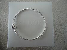"Authentic Pandora Iconic Silver Charm Bracelet 19cm 7.5 "" Hinged Box 590702HV-19"
