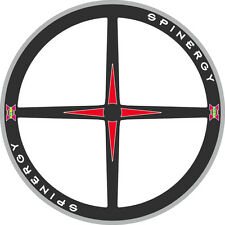 SPINERGY RIM DECALS SET FOR TWO WHEELS RED VERSION
