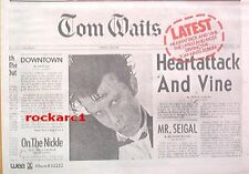 TOM WAITS Heartattack and Vine 1980  UK Poster size Press ADVERT 12x8 inches