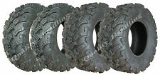 Set of 4 - Quad tyres 26X9-12 & 26x11-12 ATV 6ply tires 7psi E marked road legal
