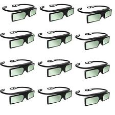 12x RF/Bluetooth Active Shutter 3D Glasses For Samsung Epson Projecotor SONY TV