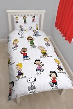 Peanuts 'Snoopy' Rotary Single Bed Duvet Quilt Cover Set Brand New Gift
