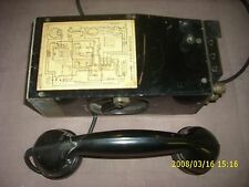 WW2 U. S. ARMY SIGNAL CORPS EE-8-A FIELD TELEPHONE for parts or repair