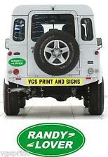 RANDY LOVER FUNNY JOKE  OFF ROAD 4x4 LAND ROVER STICKER DECAL