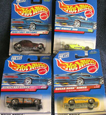LOT OF 4 HOT WHEELS 2 1997 2 1998 MINI TRUCK SUGAR RUSH MUSTANG WHEELS 500 CORD