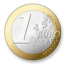 Pin Button Badge Ø38mm Image Monnaie Euro Europe Coin Piece Currency Money
