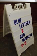 Sidewalk Sign with Replaceable Blue Letters Red Numbers 24 x 36 inch A Frame