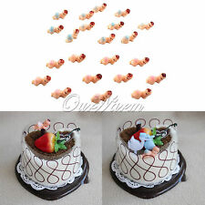 12pcs PINK Plastic Baby Shower Party Favors My Water Broke Game Cake Decor