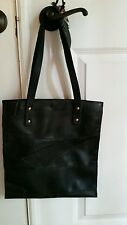Bag by Kris handmade black leather recycled accessories purse shoulder tote