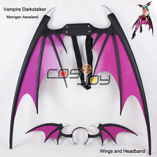 Vampire Darkstalker Morrigan Aensland Wings and Headband PVC Cosplay Prop-0694