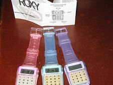 ROXY QUIKSILVER DIGITAL CALCULATOR WATCH NEW WITH PAPERS