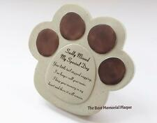 Dog paw Grave stone/ Memorial plaque/Loss of Dog Grave ornament/Sadly Missed
