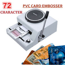 72-Character Embosser PVC ID Credit Card Embossing Stamping Machine 72 Character
