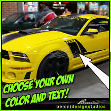2005 - 2009 Ford Mustang Custom Hockey Side Stripe Vinyl  Decals GT SVT Cobra