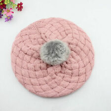Cute Winter Warm Beanie Hat Baby Kids Girls Toddler Knitted Crochet Beret Cap