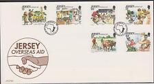 GB - JERSEY 1991 Overseas Aid SG 558/63 FDC ANIMALS COWS